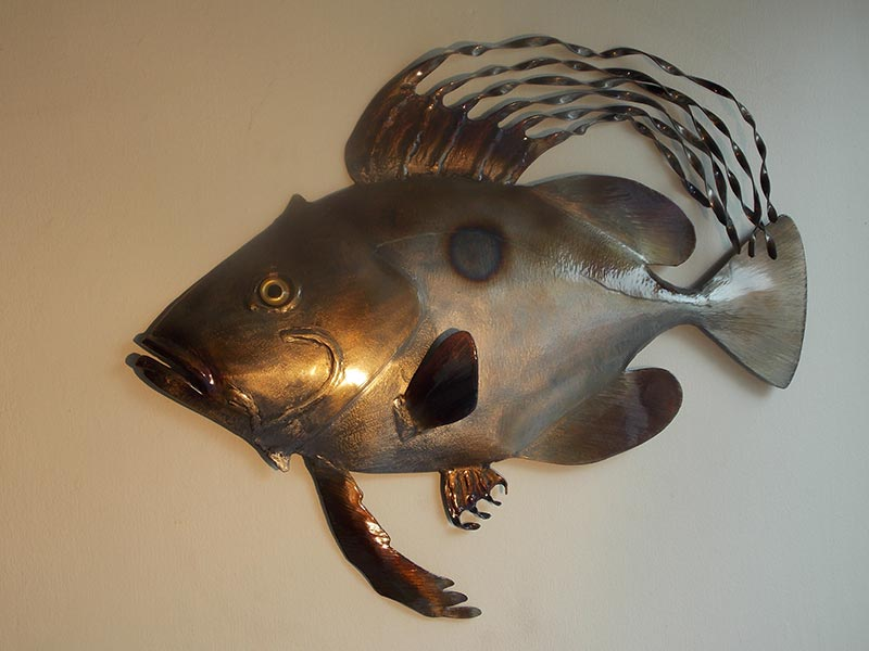 please see below for a selection of metal fish wall art handmade by nigel wills here in cornwall