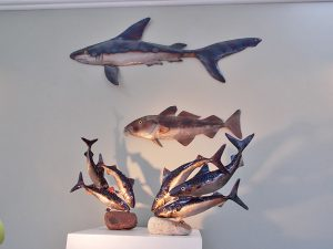 New metal sculpture gallery opens at Nigel's workshop in Leedstown, Hayle, Cornwall